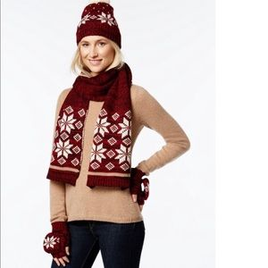 NWT Charter Club 3-Piece Scarf Set